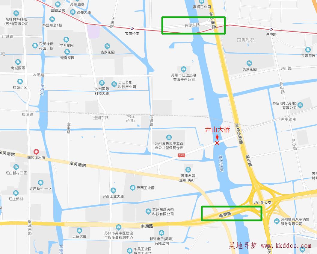 苏州尹山大桥及东吴南路/宝通路/交通路三角区封闭施工